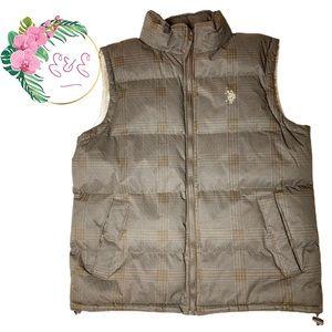 🌸U.S. POLO ASSN Men's Puffer Vest Size M